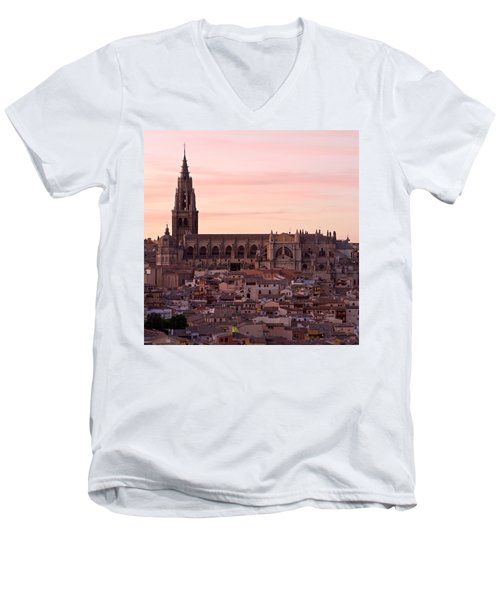 Sunset At Toledo Men's V-Neck T-Shirt