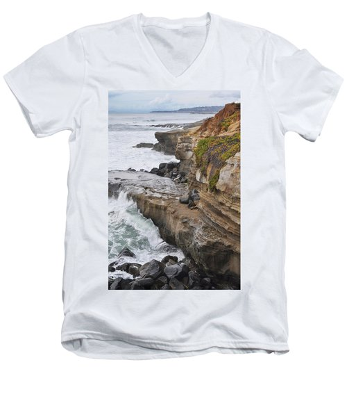 Sunset Cliffs San Diego Portrait Men's V-Neck T-Shirt