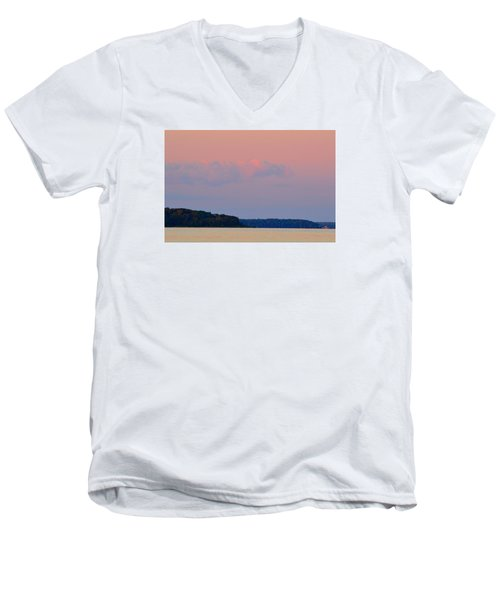 Men's V-Neck T-Shirt featuring the photograph Sunset Clouds In The East 2  by Lyle Crump