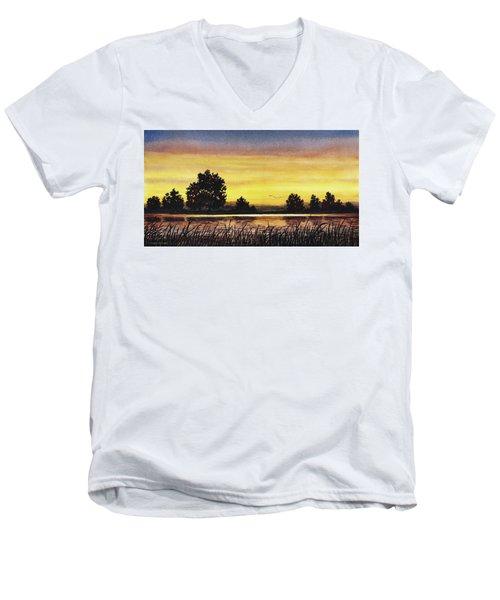 Sunset Flight Men's V-Neck T-Shirt