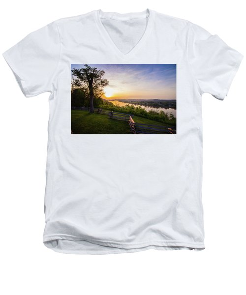 Sunset From Boreman Park Men's V-Neck T-Shirt