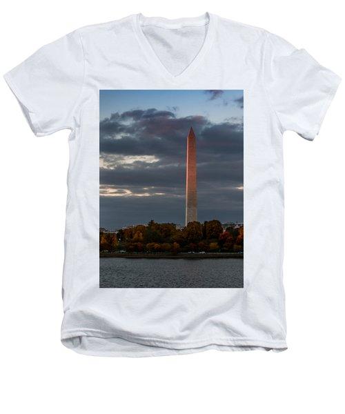 Sunset Glow Men's V-Neck T-Shirt by Ed Clark
