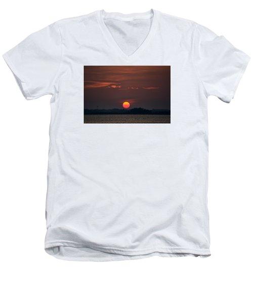 Sunset In Biloxi 2 Men's V-Neck T-Shirt