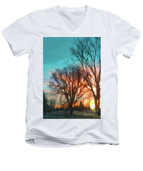 Sunset In The Country Men's V-Neck T-Shirt