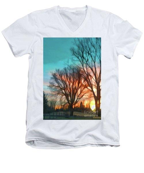 Sunset In The Country Men's V-Neck T-Shirt