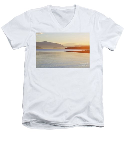 Sunset In The Mist Men's V-Neck T-Shirt