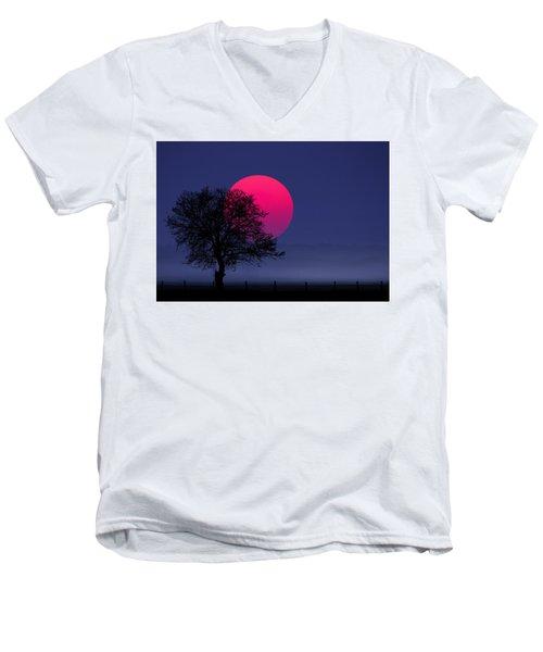 Sunset Magenta Men's V-Neck T-Shirt