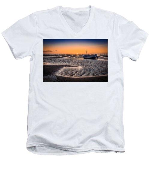 Sunset, Meols Beach Men's V-Neck T-Shirt