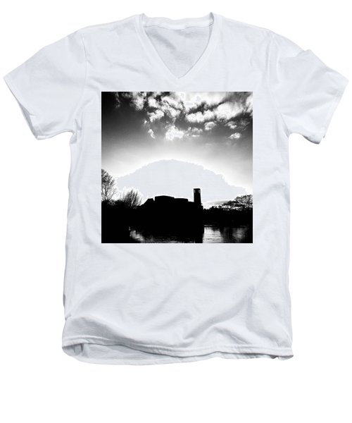 Sunset Over The Royal Shakespeare Company. Men's V-Neck T-Shirt