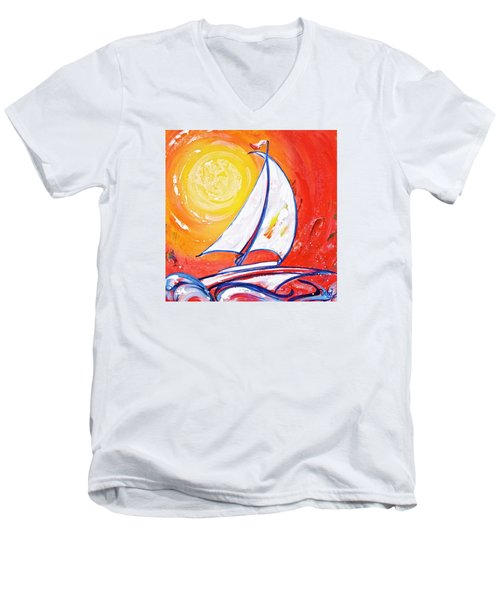 Sunset Sail Men's V-Neck T-Shirt