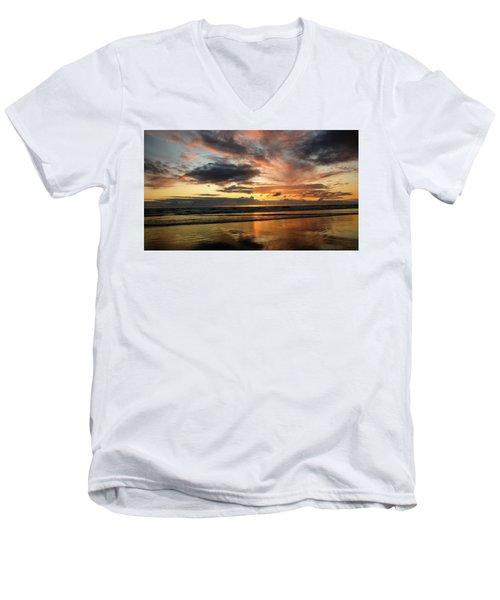 Sunset Split Men's V-Neck T-Shirt