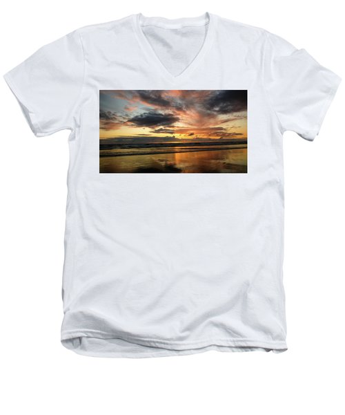 Sunset Split Men's V-Neck T-Shirt