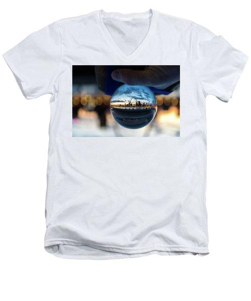 Sunset St. Louis II Men's V-Neck T-Shirt