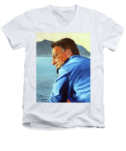 Sunset Men's V-Neck T-Shirt by Tim Johnson