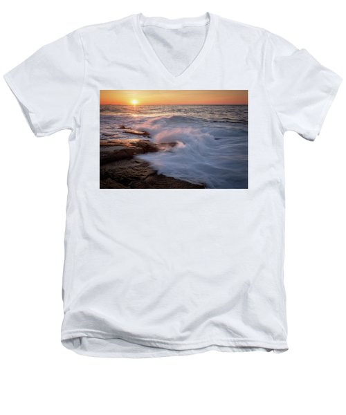 Sunset Waves Rockport Ma. Men's V-Neck T-Shirt