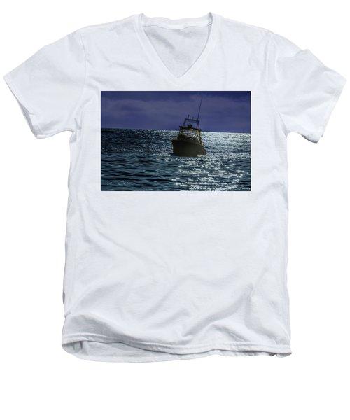 Sunsetting On Fisher Betting Men's V-Neck T-Shirt