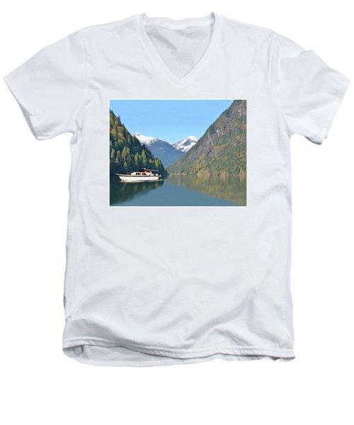 Sunshine Coast Cruising Men's V-Neck T-Shirt by Jack Pumphrey