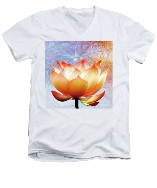 Sunshine Lotus Men's V-Neck T-Shirt