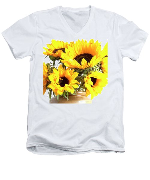 Sunshine Sunflowers Men's V-Neck T-Shirt