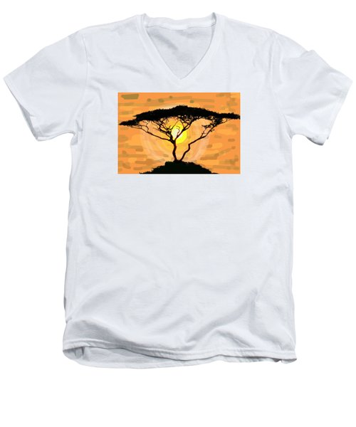 Suntree Men's V-Neck T-Shirt by Patricia Arroyo