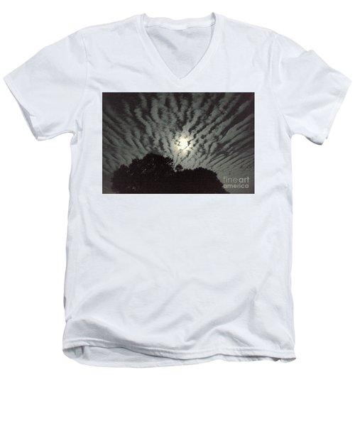 Super Moon Men's V-Neck T-Shirt by Irma BACKELANT GALLERIES