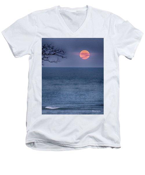 Super Moon Waning Men's V-Neck T-Shirt