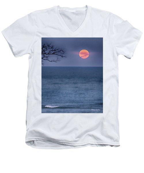 Super Moon Waning Men's V-Neck T-Shirt
