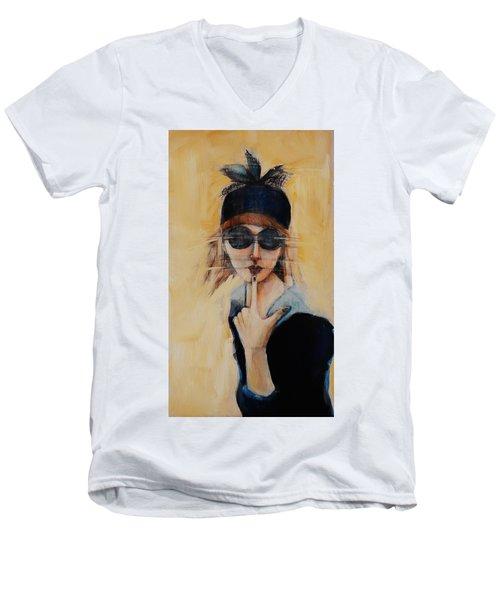 Superficially Evocative Men's V-Neck T-Shirt