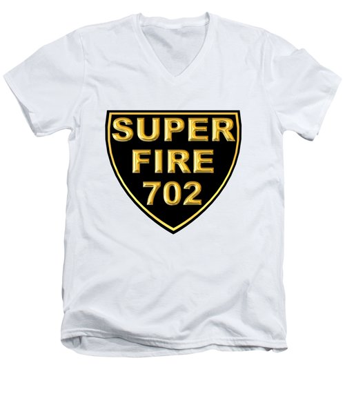 Superfire 702 Men's V-Neck T-Shirt