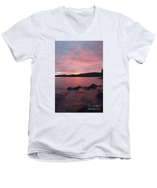 Men's V-Neck T-Shirt featuring the photograph Superior Delight by Sandra Updyke