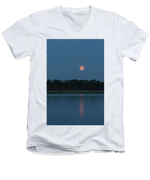 Supermoon Dawn 2013 #2 Men's V-Neck T-Shirt