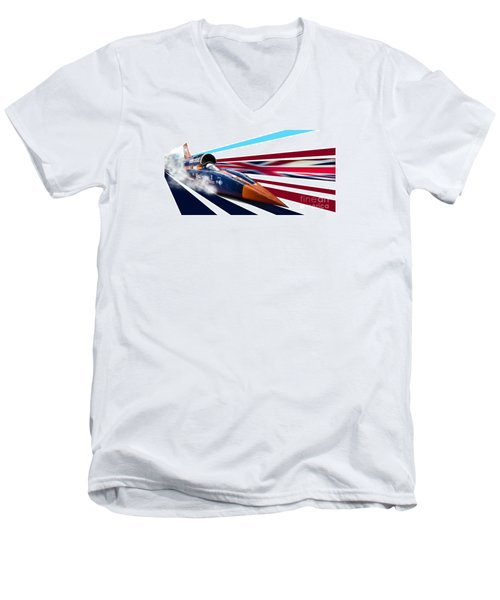 Supersonic Brit Men's V-Neck T-Shirt