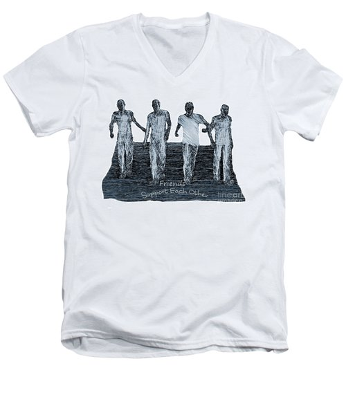 Support Each Other Men's V-Neck T-Shirt