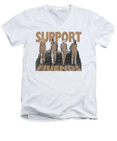 Support Friends Men's V-Neck T-Shirt