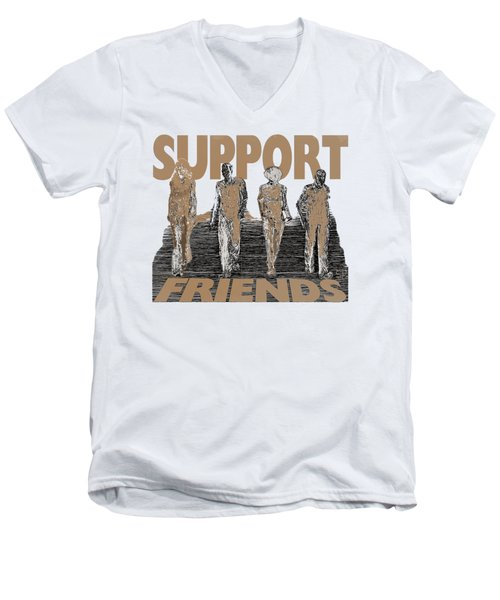 Support Friends Men's V-Neck T-Shirt