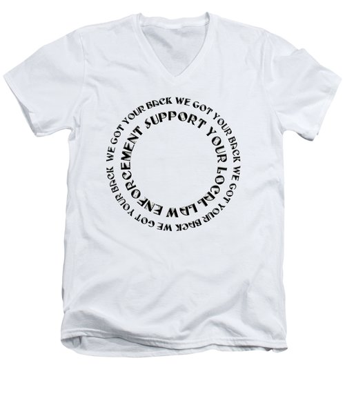 Support Your Local Law Enforcement Men's V-Neck T-Shirt by Andee Design