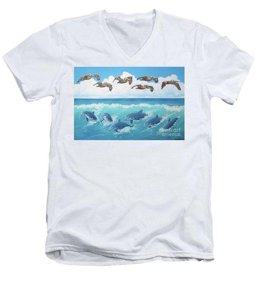 Surf And Soar Men's V-Neck T-Shirt