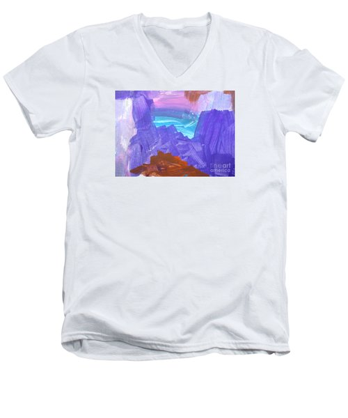 Surf By Hannah Men's V-Neck T-Shirt by Fred Wilson