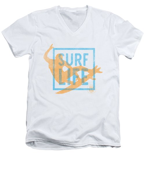 Surf Life 1 Men's V-Neck T-Shirt by SoCal Brand