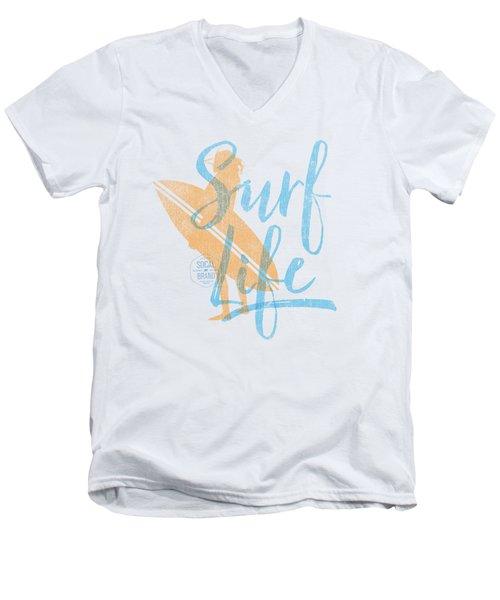 Surf Life 2 Men's V-Neck T-Shirt by SoCal Brand