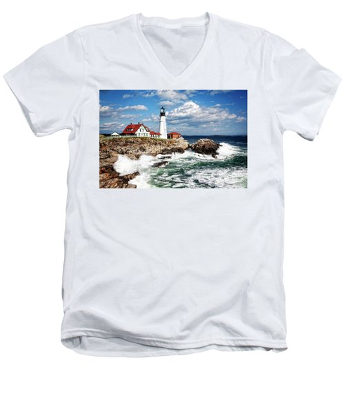 Surf Meets Land Men's V-Neck T-Shirt