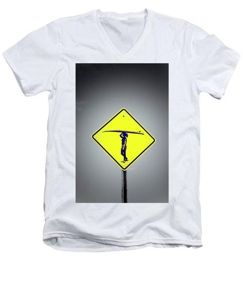 Surfer Girl #3 Men's V-Neck T-Shirt