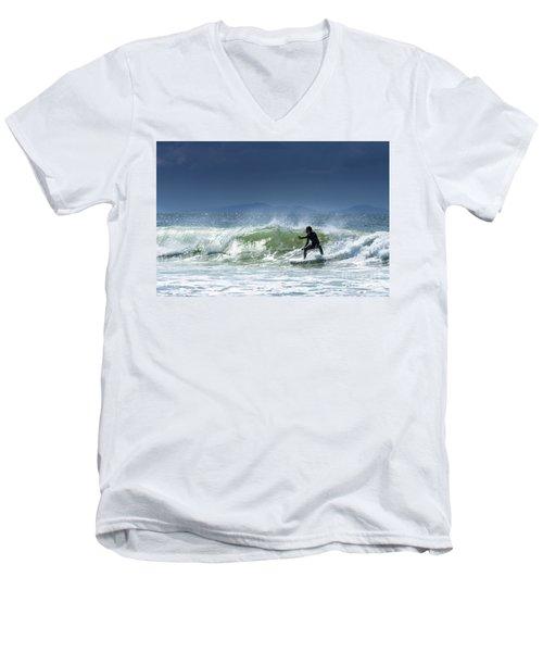 Surfing At Byron Bay Men's V-Neck T-Shirt
