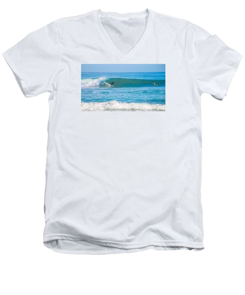 Surfing Men's V-Neck T-Shirt by Dorothy Cunningham