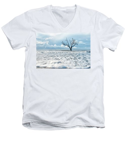 Surfside Tree Men's V-Neck T-Shirt by Phyllis Peterson