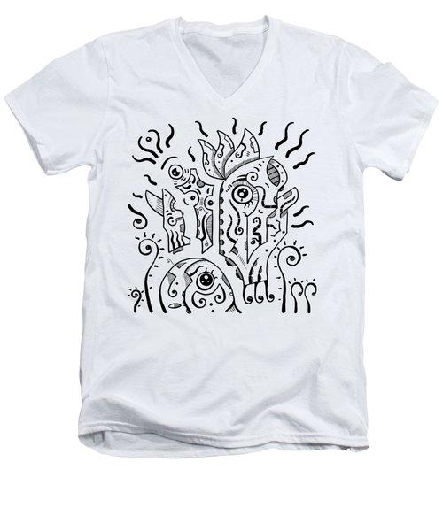 Surrealism Eyes Men's V-Neck T-Shirt