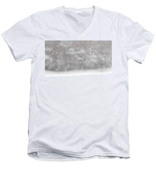Surreal Snowdrops Men's V-Neck T-Shirt