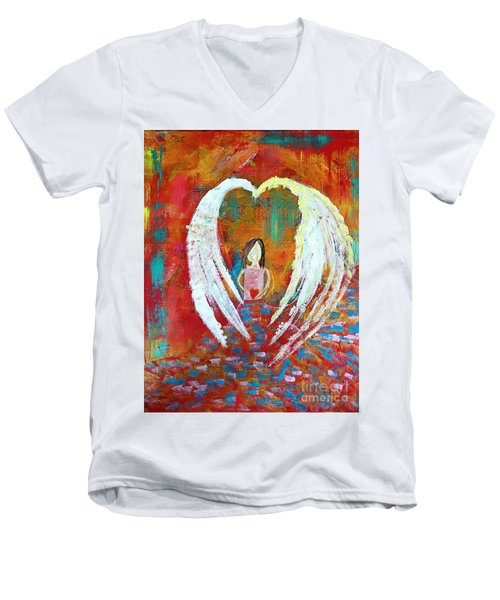 Surrounded By Love Men's V-Neck T-Shirt