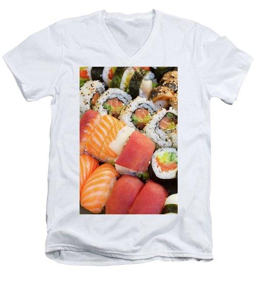 Sushi Dish Men's V-Neck T-Shirt by Anastasy Yarmolovich