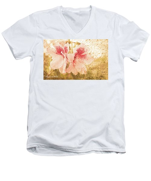 Men's V-Neck T-Shirt featuring the photograph Sutle Harmony by Bonnie Willis